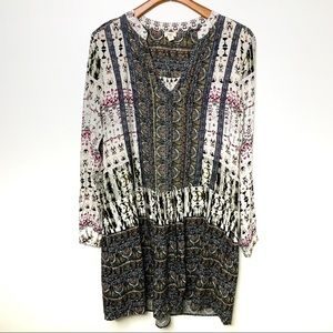 ANTHROPOLOGIE Tiny Shirt Dress Tunic Pockets Sz XL